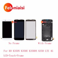 10Pcs Lot DHL EMS For LG K8 K350N K350E K350DS K350 LTE 4G Full Lcd Display