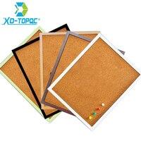 Free Shipping XINDI 5 Colors MDF Frame Bulletin Cork Board 30 40cm Memo Photos Pin Board
