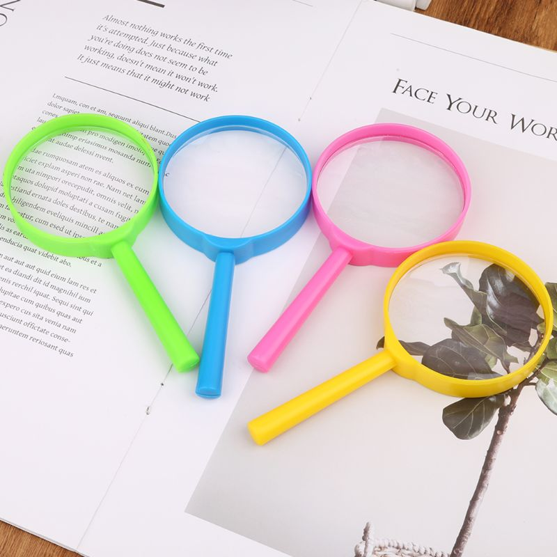 Portable Handheld Magnifier 60mm 3X Magnifying Loupe Reading Glass Lens Kids Toy