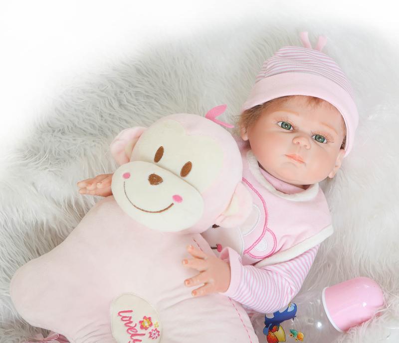 NPKDOLL 50 cm corps complet Silicone Reborn poupées réaliste bébé garçon fille poupées reborn bebe Boneca Reborn Realista enfant jouets cadeau - 3