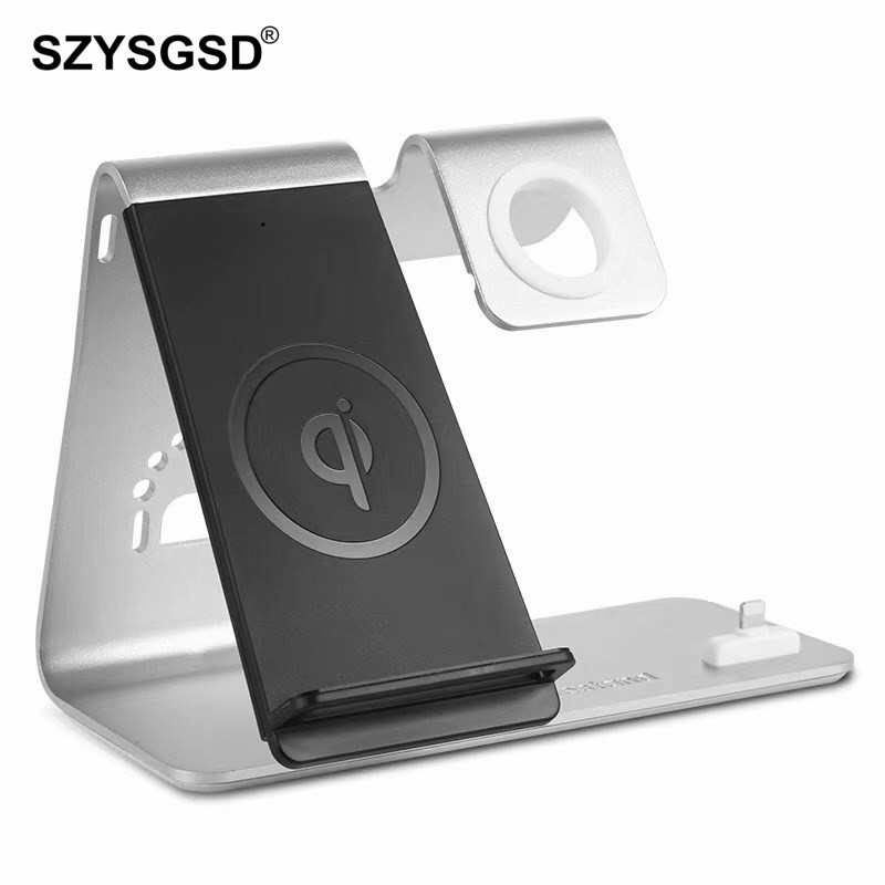 Fast Qi Wireless Charger Stand For Apple Watch Qi Charging Stand For iPhone XR XS 8