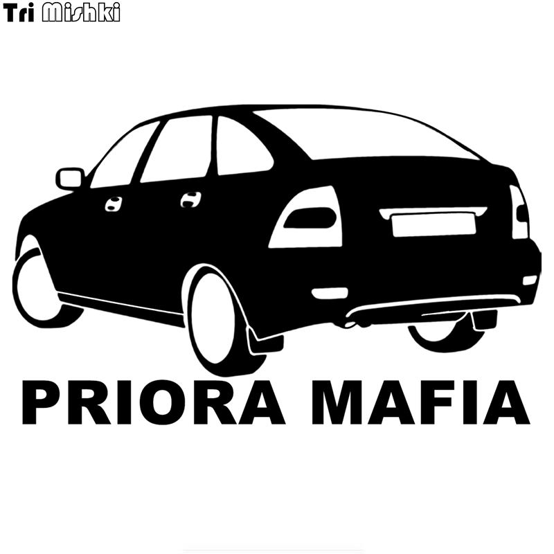 Tri Mishki HZX199 12.1*20cm 1-4 Pieces Car Sticker Priora Mafia For Vaz Lada Priora Auto Car Stickers