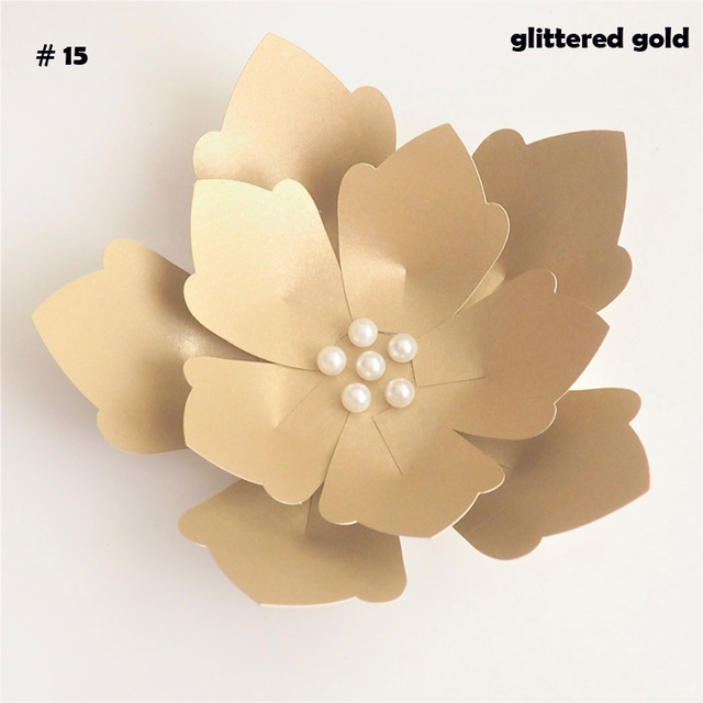 5 Minute Easy DIY Paper Flowers For Wedding Backdrops Decorations Paper Crafts Nursery Room Deco Baby Shower Video Tutorial|Artificial & Dried Flowers| - AliExpress