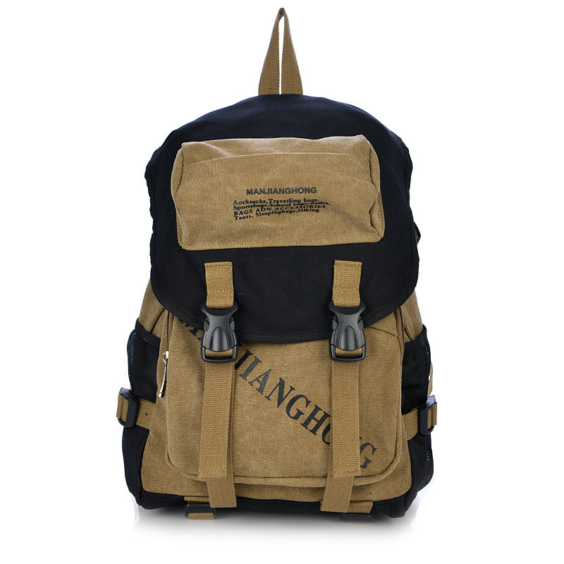 And Women's Backpack Vintage Canvas Backpack Schoolbag Male Travel Bags Large Bags Letter Printing Crossbodybags