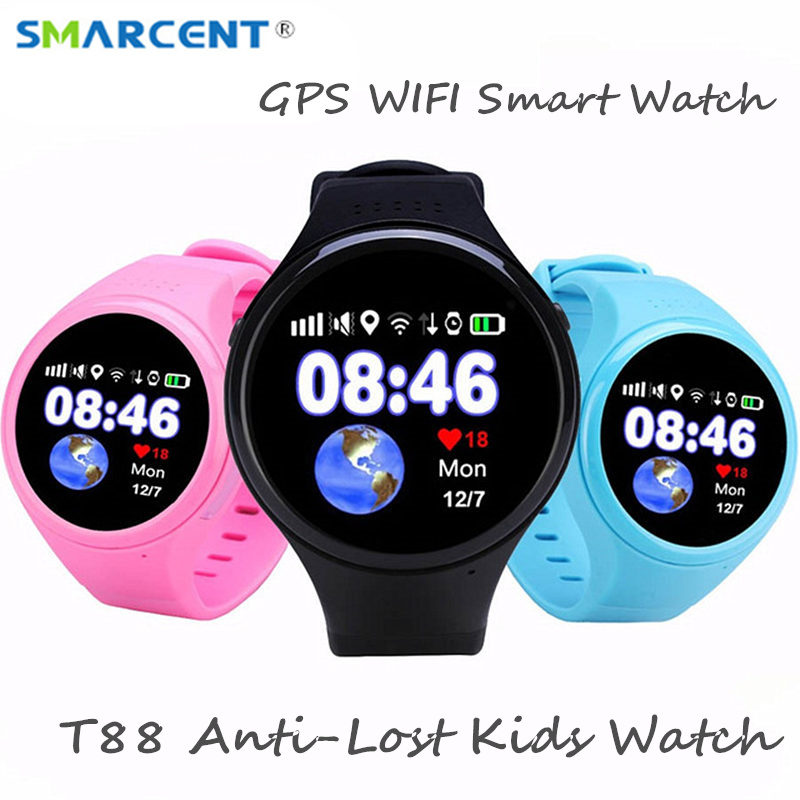 GPS smart watch Child baby watch T88 with Wifi SOS Call Location Device Tracker for Kids/old man Safe Anti-Lost Monitor PK Q90 футболка mango футболка