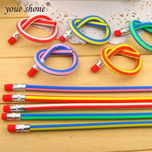 6PCS/lots Color pencil  stationery folding deformation bending soft pencil  primary school gifts prizes writing  18cm