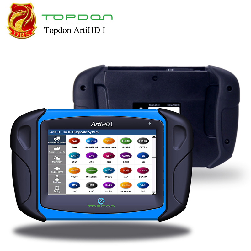 Automotive Diagnostic Scan Tool Topdon ArtiHD I for Heavy Duty Commercial Vehicles with ECU Reprogram/Calibration 1Y Free Upadte