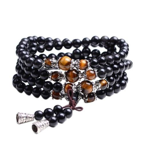 6mm Obsidian Mala Beads