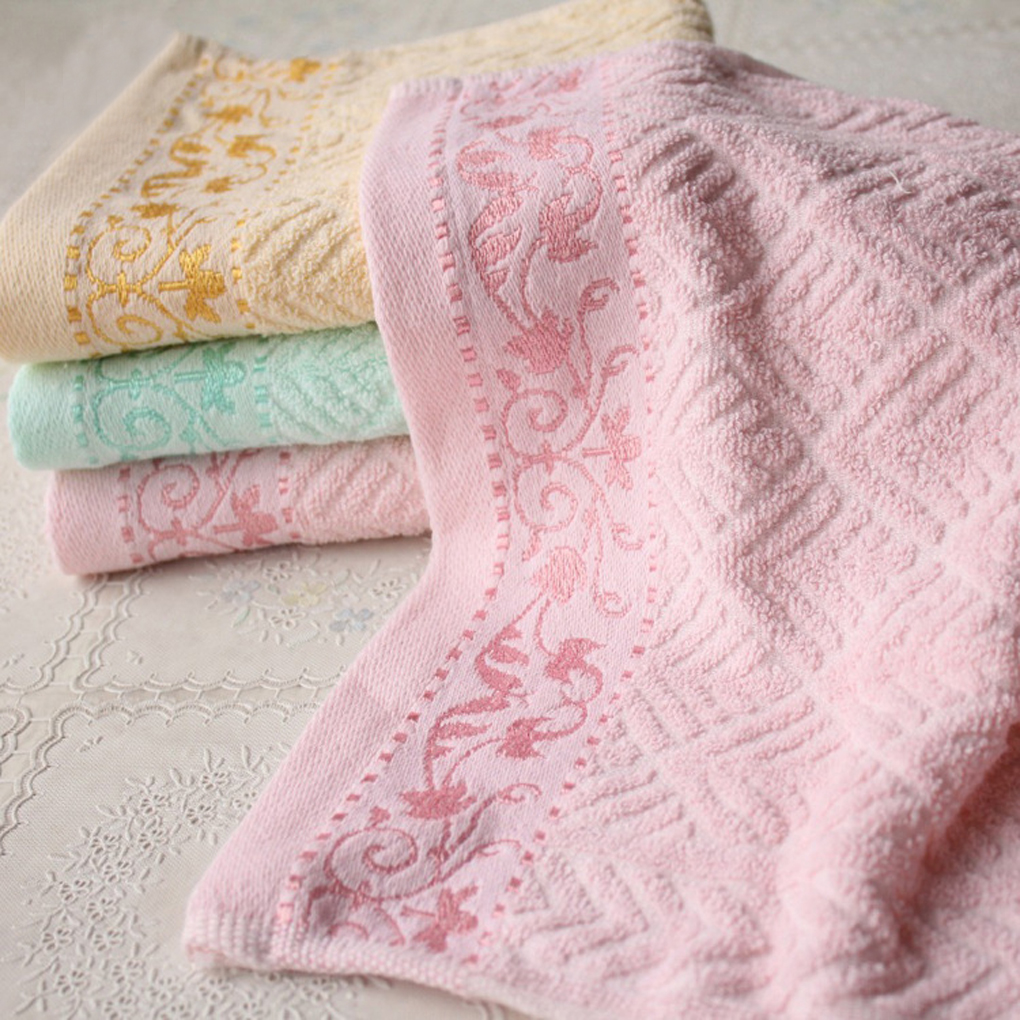 Élégant varie couleurs 100% Coton Solide couleur serviettes Drap De Bain Serviette De Bain Serviette de Visage Serviette: 33*73 cm