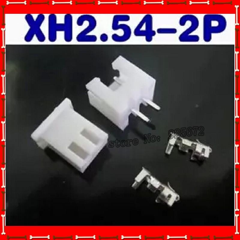 Соединитель XH2.54-2P соединитель, расстояние 2,54 мм набор: вилка+ розетка+ терминал