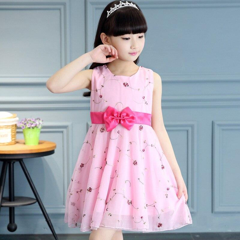 Promoción de Vestido De Color Rosa Para Niña - Compra Vestido ...