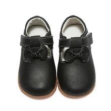 Обувь из натуральной кожи для девочек; однотонная детская обувь; цвет белый, черный; Детская школьная обувь с Т-образным ремешком и бантиком; Повседневная Свадебная обувь; Новинка