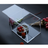 Rectangle Acrylic Jewelry Display Birthday Baby Party Wedding Favors Boxes With Sliding Cover