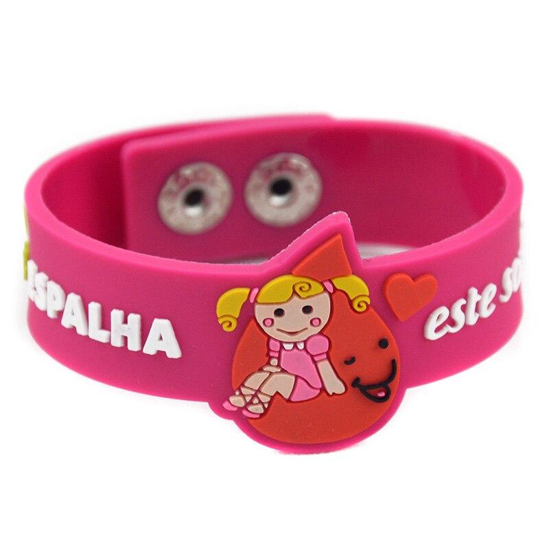 OneBandaHouse Custom Design Soft PVC ID Wristband For Playground