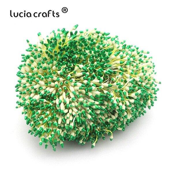 288 шт 60 мм разноцветные варианты наконечник пестик тычинка цветок тычинка украшения торта двойная головка тычинки D0501 - Цвет: color 6