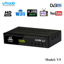 Vmade Newest Digital Satellite Set Top Box DVB V5 Fully HD 1080p H.265 Support CCCAM BISSKEY YouTube