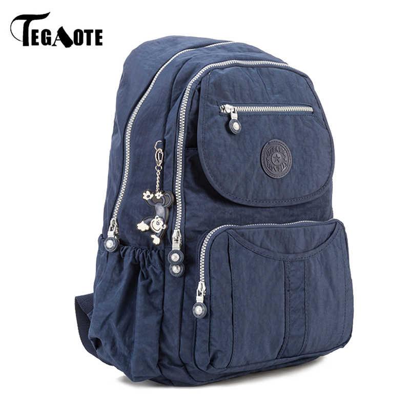 Tegaote grande escola mochila para adolescentes meninas mulheres de volta pacote grande capacidade mochila de viagem de náilon portátil bagpack bolsa senhoras