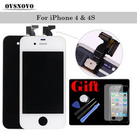 Best Quality LCD Touch Screen For IPhone 4 4s Display Digitizer Assembly Replacement Black White With