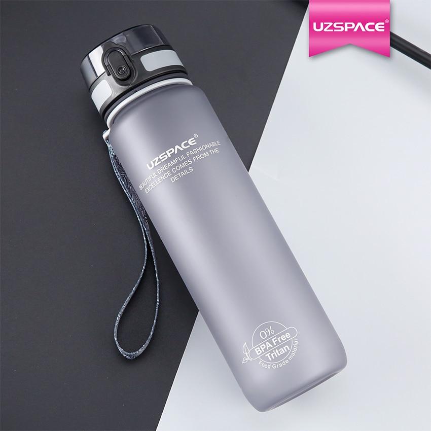 Bottiglie di Acqua UZSPACE 1000 ml BPA libero di proteine Shaker Scrub Portatile Spazio Adulti Sport ciclismo viaggio d'escursione di campeggio Il Mio Bottiglie