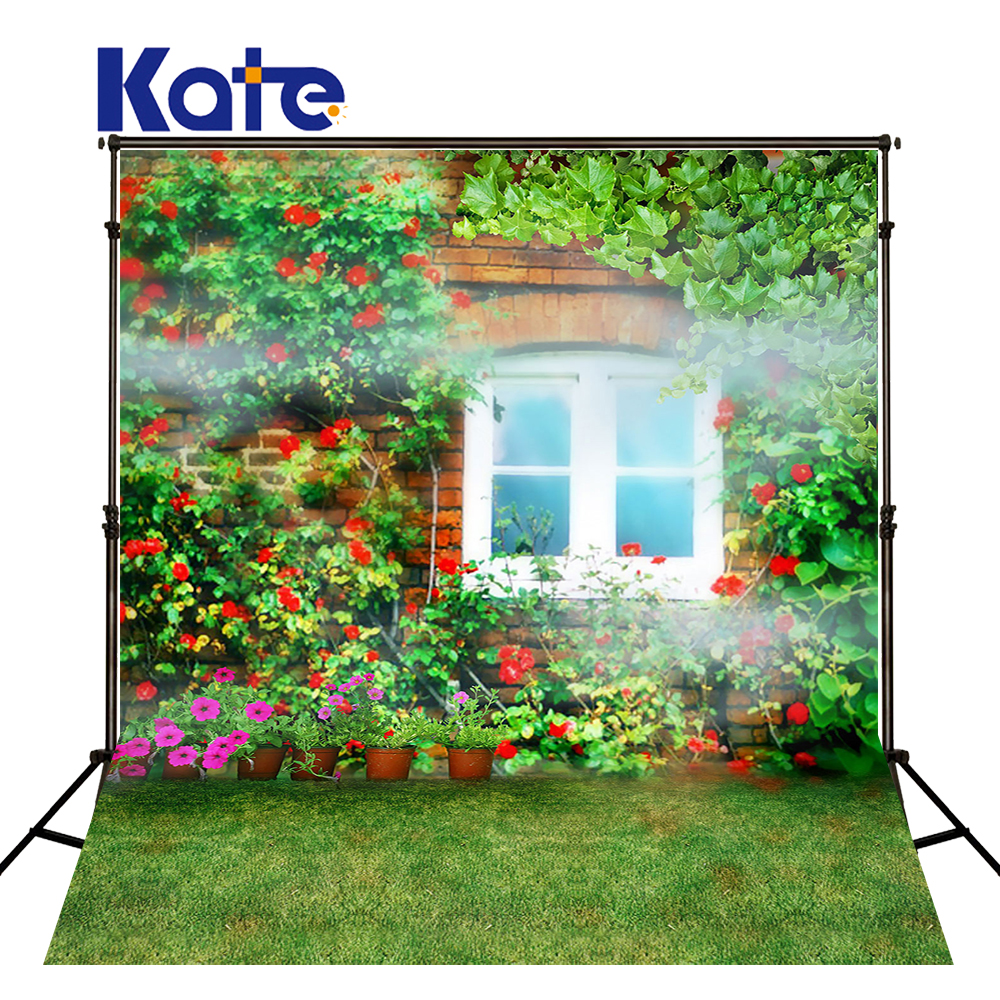 Kate Spring Backgrounds Ruhuasiyu Blossoming Flowers And Lush Foliage Leaves Flowers Smoky Photography Backdrops Photo LK 1140 600cm 300cm backgrounds growing flowers blooming flowers photography backdrops photo lk 1574