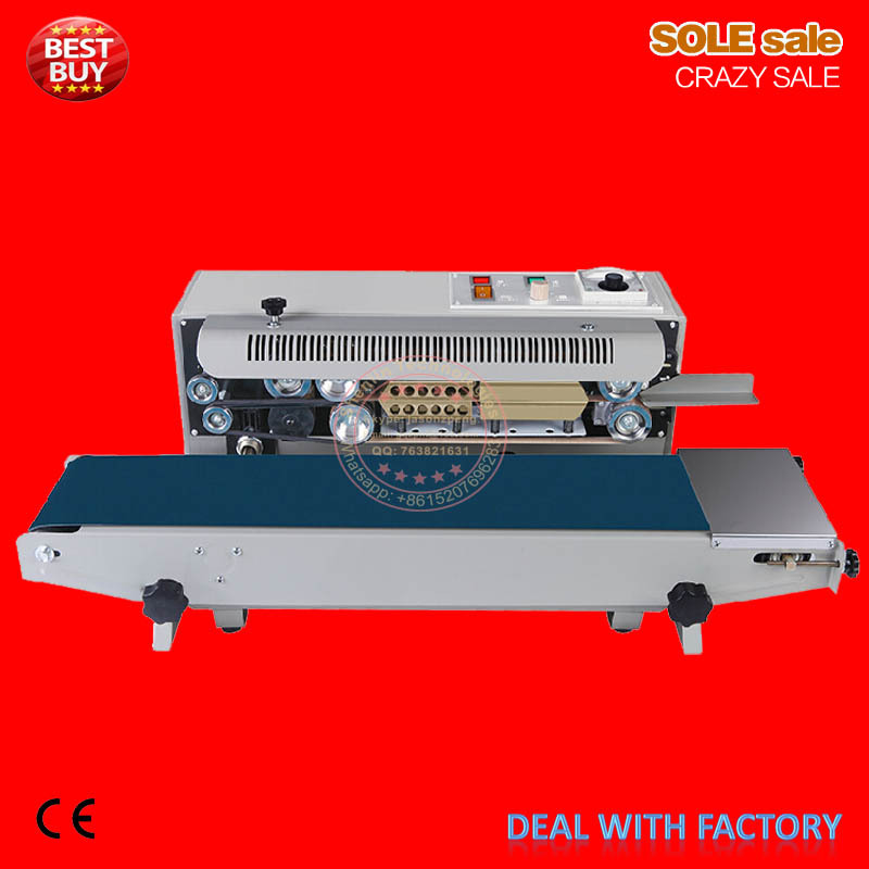 Continous plastic bag sealing machinery can do datecode heat shrinking sealer,smart package packing equipment limitless length automatic bag sealing machines
