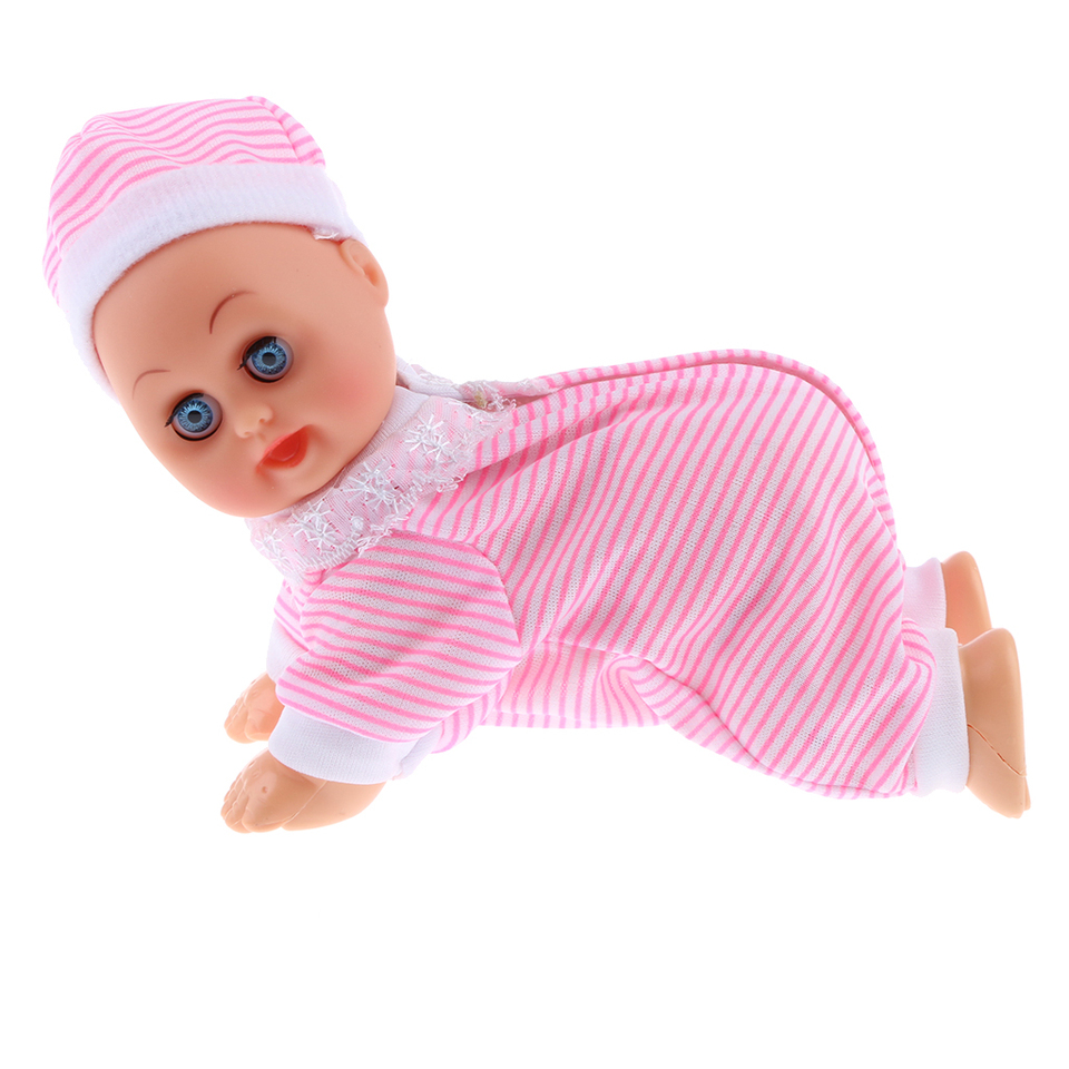 INTERACTIVE DENNIS CRAWLING BABY DOLL PRETEND ROLE PLAY GIRL BOY SOUND