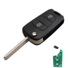 3 Buttons Flip Folding Remote Key Fit For KIA Sportage 433mhz+ID46 CHIP TOY40 Blade Replacement Refit Key Fob P28