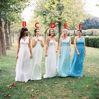 High Quality Multi Style Bridesmaid Dresses 2015 Custom Made Floor Length Chiffon Plus Size Bridesmaid Gowns