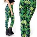 Green Leaf Womens Leggings For Women Printed Leggings Casual Legging Fitness Clothing For Women Pants Legging Pants