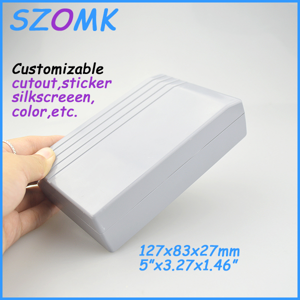 2 piece plastic electronics enclosure for pcb abs plastic electrinical box for pcb 127*83*27 mm 5*3.27*1.46 inch