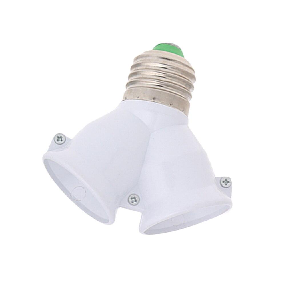 1PC E27 Extend Base E27 To Double E27 Base LED Light Socket Extender Adapter Converter Lamp Bulb Holder
