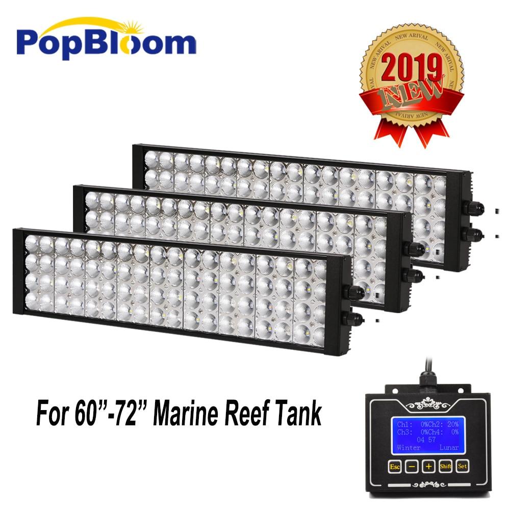 PopBloom aquarium led lighting lamp led aquarium full sepctrum marine led best cover SPS LPS tank