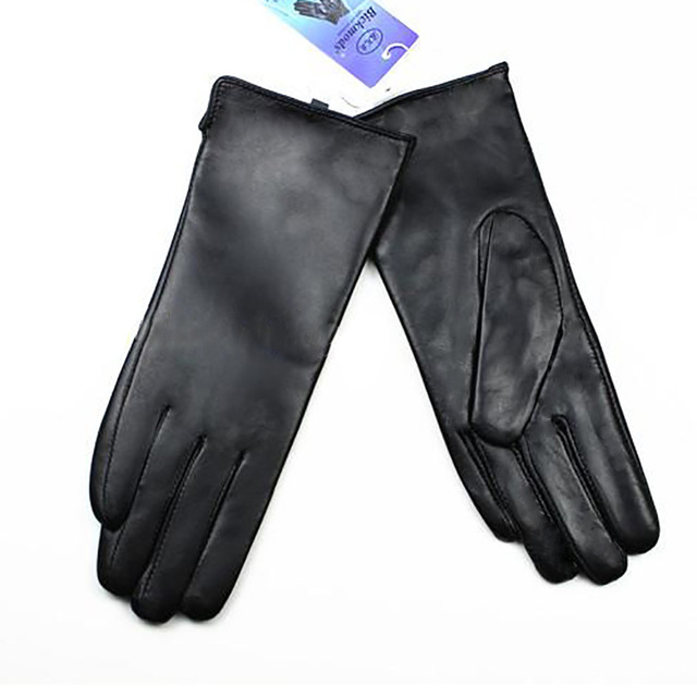 Leather Gloves Sheepskin...