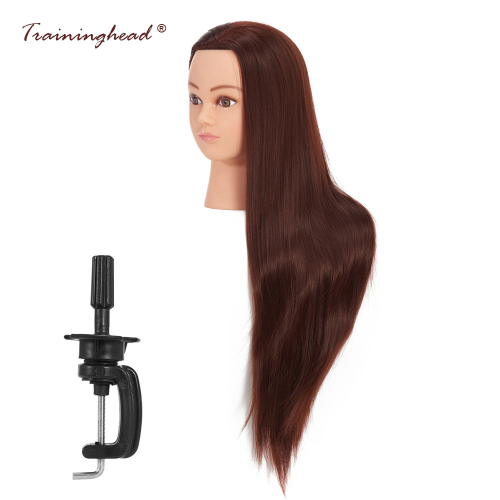 Traininghead 26-28 Salon Wig Mannequin Head Professional Hair Hairstyles Doll Heads Cosmetology Training Manikin Head Stand