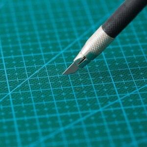Image 4 - A2 PVC כפול מודפס ריפוי עצמי חיתוך מחצלת תפירה מלאכת רעיונות לוח 60*45cm טלאי בד נייר קרפט כלים