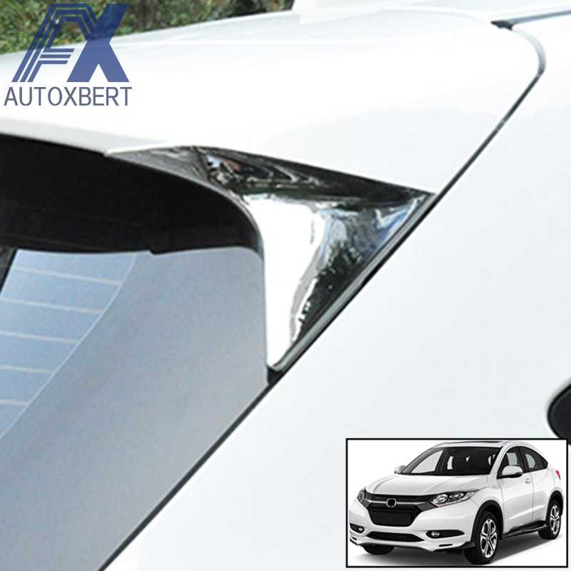 AX Chrome Rear Side Window Spoiler Protector Cover Surround Trim Molding Driehoek Frame Voor Honda HR-V Vezel HRV 2019- 2017 2016