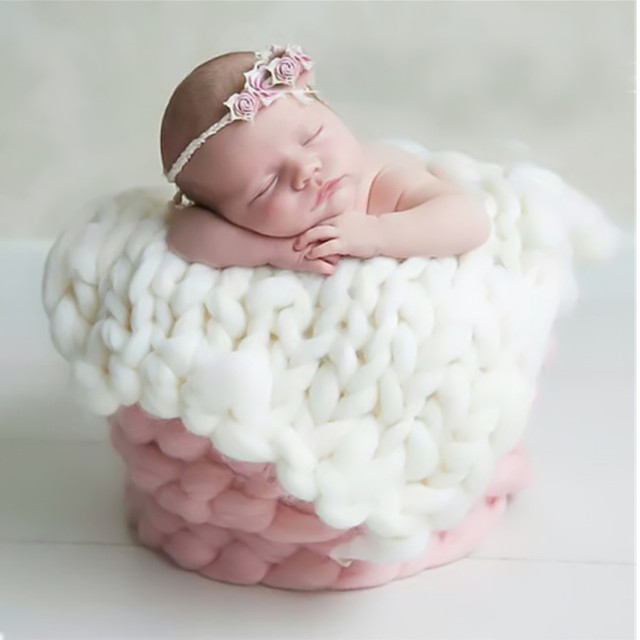Baby newborn balls blanket photo prop newborn baby photography props accessories hot knitted crochet blanket mat