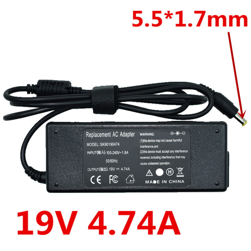 HSW High Quality 90W AC Adapter Laptop Charger For Acer 19V 4.74A Travelmate 8210 4400 Series PA-1900-04 Brand New