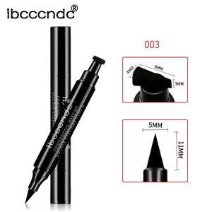 Image 5 - חם 4 סגנונות אייליינר חותמת עיפרון שחור נוזלי איפור עמיד למים לטווח ארוך כנף בולים delineador