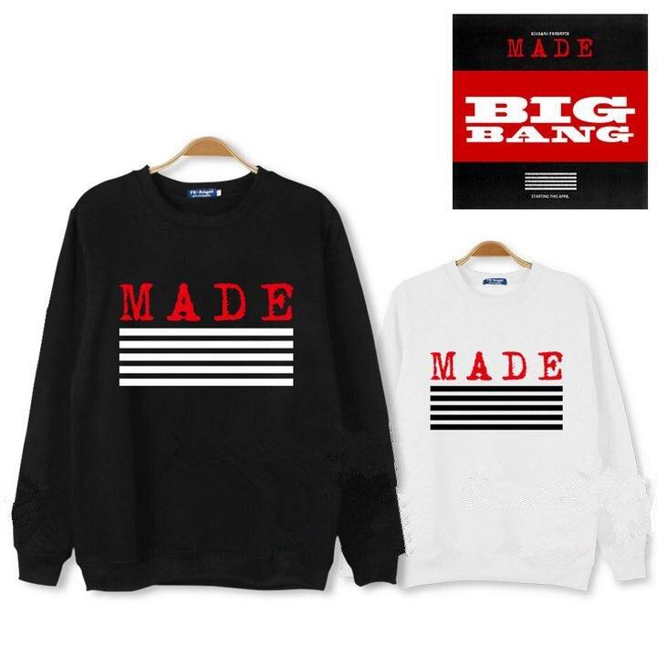 Bigbang kpop long sleeve sweatshirt 2016 autumn concert k-pop clothing BIG BANG shirt sweatshirt top layer Outerwears Hoodies