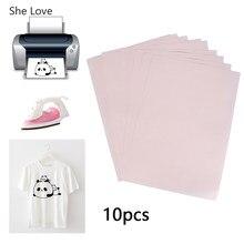 Chzimade 10 pçs/lote a4 transferência de calor papel para diy t shirt tecido pintura ferro em papel artesanato materiais