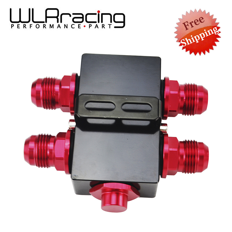 FREE SHIPPING Oil Filter Sandwich Adaptor With In-Line Oil Thermostat AN10 fitting Oil Sandwich Adapter WLR5672BK wlring oil filter sandwich adaptor for high quality oil filter remote block with thermostat 1xan8 4xan10 orb female wlr6744