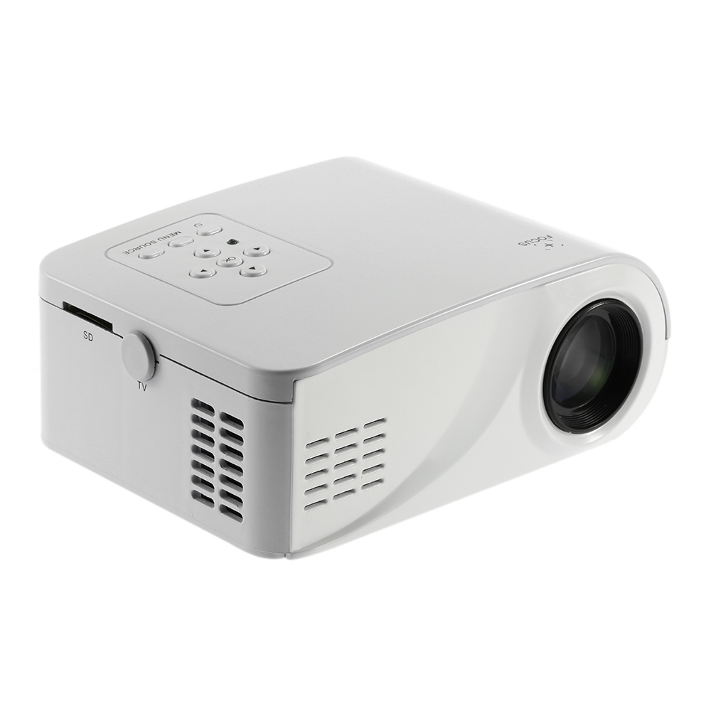 ФОТО X6 Projector 80 Lumens 1080P Full HD LED Projector Contrast Ratio 1000:1 Projection with HDMI VGA AV Port Remote Control EU US