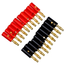10 Pcs 3.8Mm Thread 4Mm Banana Plug Socket Binding Post Replacement & 50Mm Plastic Handle Test Probe Metal Alligator Cl
