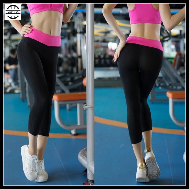 Women Shapers Pro Exercise Tight Fitness Calf-Length Pants 3D Tight Quick-dry Wicking Breathable High Elastic Compression Pants