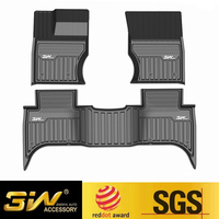 Car floor mats For Land rover Evoque with 3w Customized Special tpe mat,black