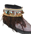 Gypsy Boho pulsera Tobillera Sandalias descalzas tornozeleira Descalzo tobilleras pulseras encanto de la borla de plumas Negro Tobillo bareclets