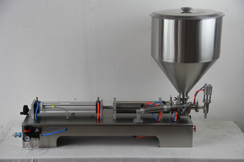 Semi-automatic Filler Horizontal Single Head Past Filling Machine For Food Processor Industrial Packer 100-1000ML semi automatic liquid filling machine pneumatic semi filler piston filler semi automatic piston