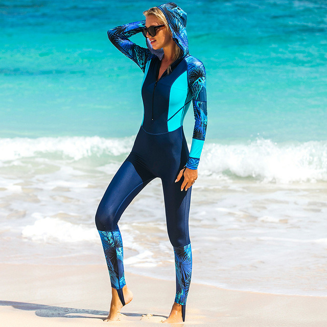 Sbart Hooded Active Women Diving Suits Bodysuits Female Wetsuits Scuba  Snorkeling Equipment One Pieces Rash Guards 2018 b880d4a66