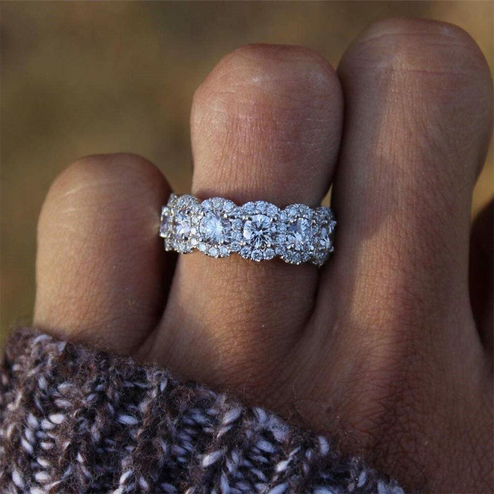 IPARAM модные роскошные серебряные CZ женские обручальные кольца 2019 белый ААА Цирконий Кристалл Свадебные обручальные ювелирные изделия вечерние подарки